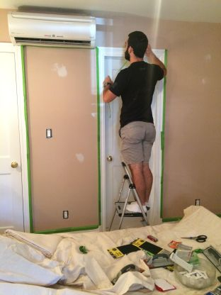 Valspar Mint Hint Paint Day 6