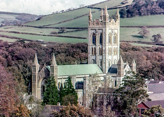An old shot of Buckfast abbey by David kemp