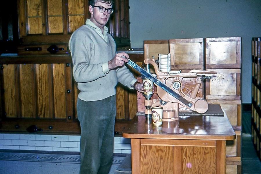 David Kemp at Buckfast Abbey in the 1960s