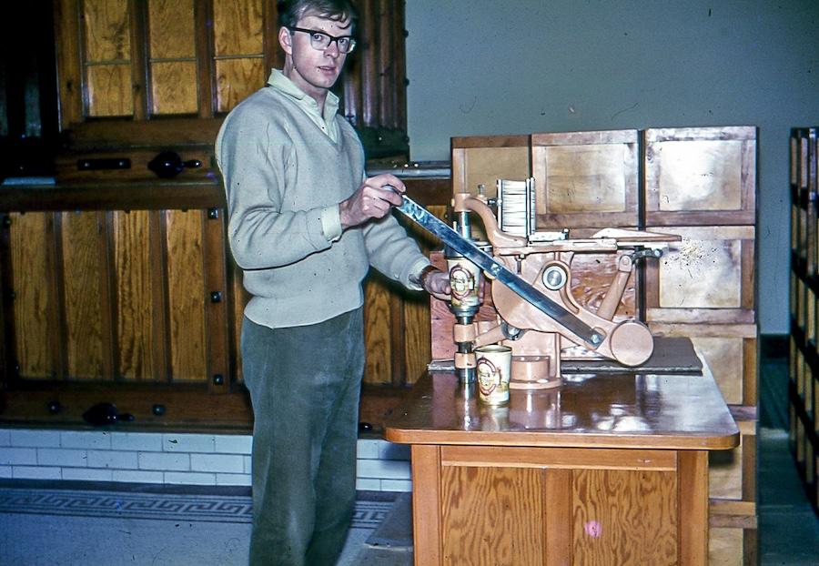 David Kemp at Buckfast Abbey in the 1960s