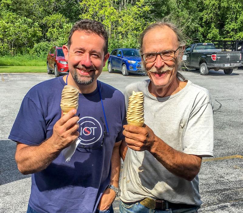 Me and Michael Palmer near Lake Champlain