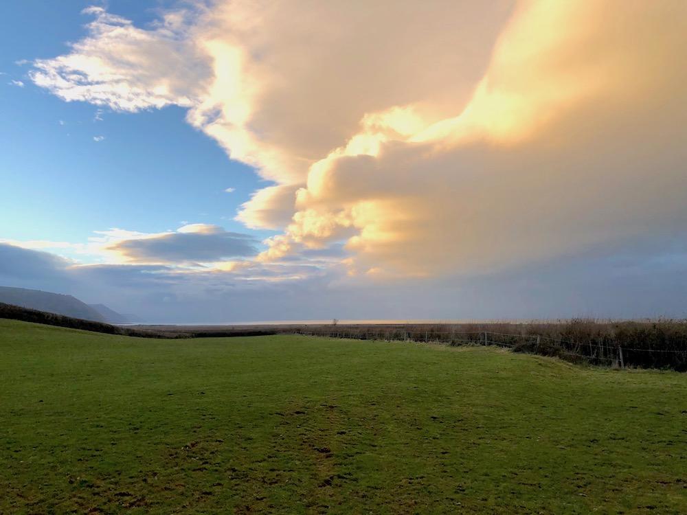 Clouds near Porlock, Somerset UK