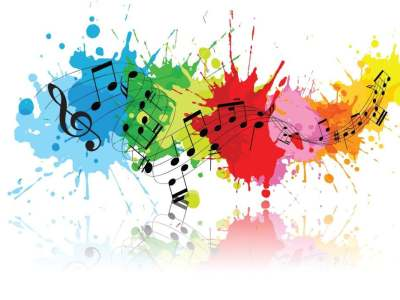 musica note colorate