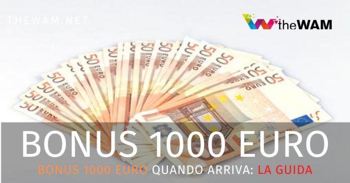 Bonus 1000 euro la guida