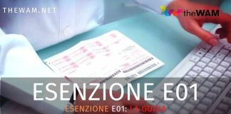 Esenzione E01 ticket sanitario