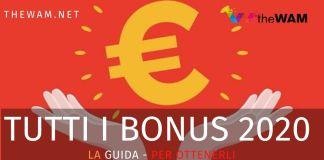 Tutti i bonus del 2020