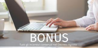 Decreto Agosto: tutti i bonus previsti dal provvedimento. Quali sono?