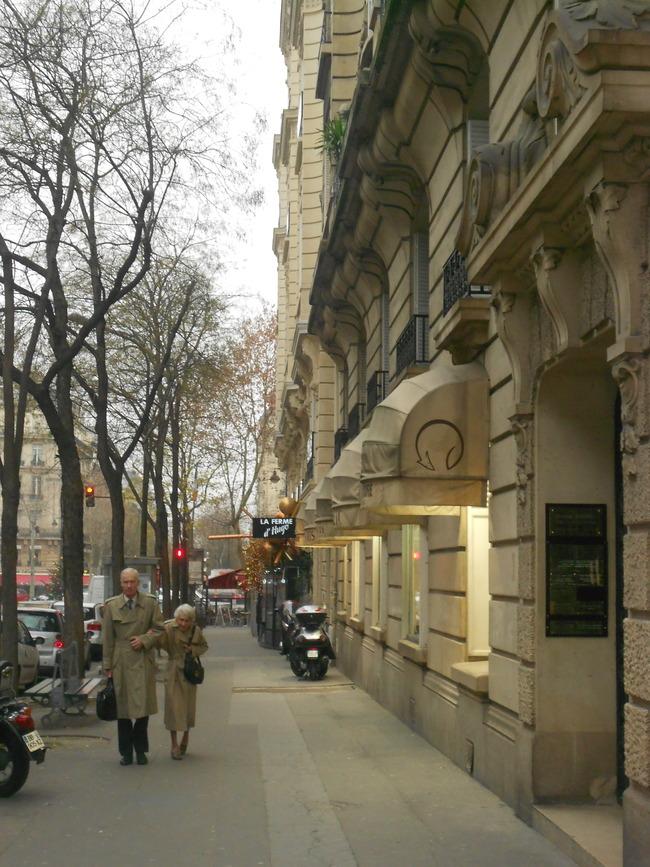 Elegant people in Paris Passy 16eme