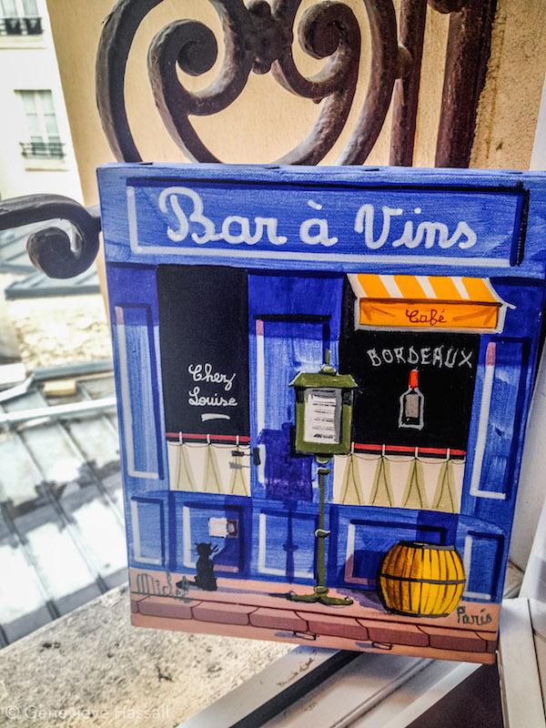 Painting from Montmartre Artist Market Paris