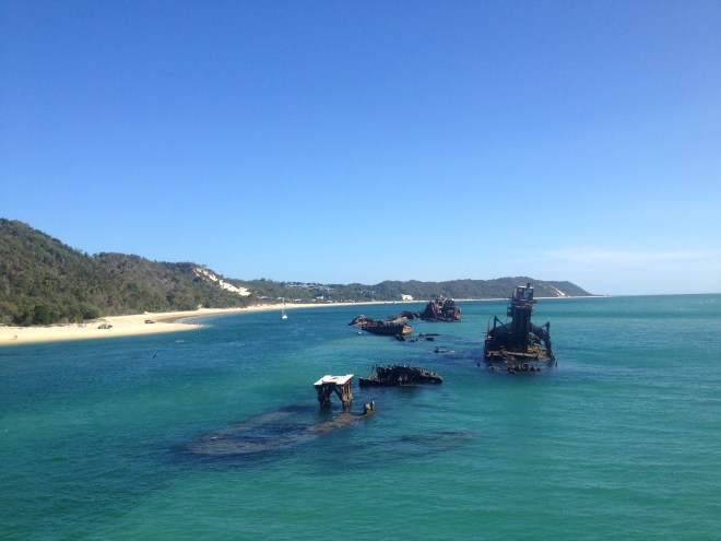 Wrecks at Moreton Island Queensland Australia