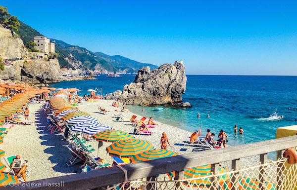 Beach in Monterosso Cinque Terre