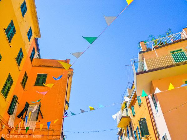 Flags in Riomaggiore Cinque Terre