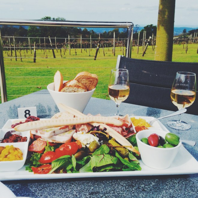 Lunch at Flame Hill Winery, Montville