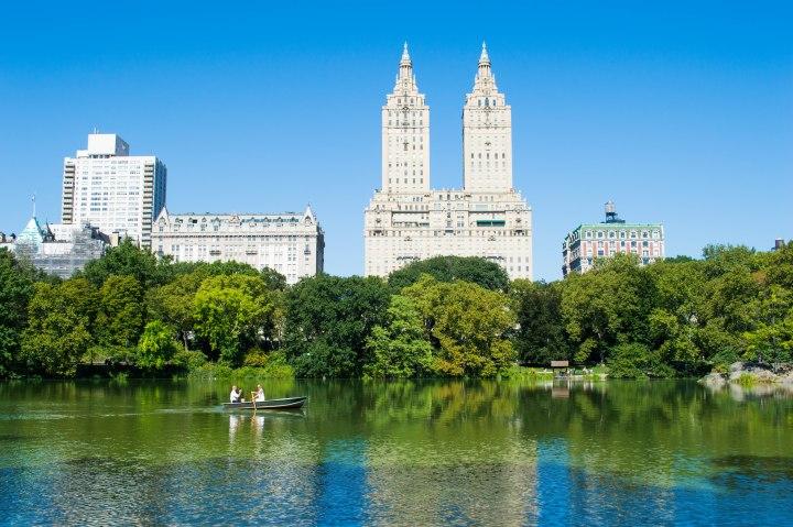 Central Park Lake Views of New York City
