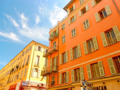 Colourful Buildings in Old Town, Nice