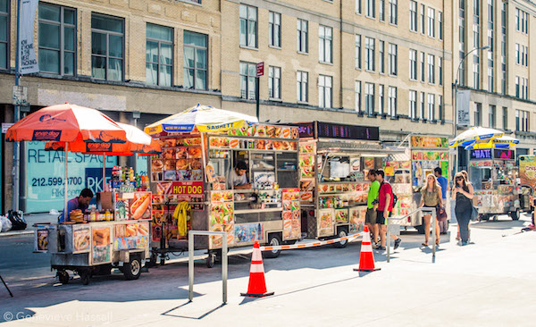 Street Food Cars outside the High Line in Meatpacking NYC