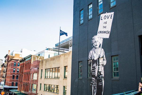 Einstein Street Art High Line Chelsea NYC
