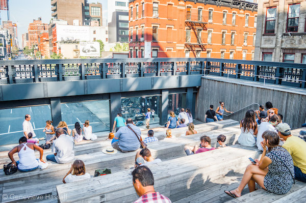 Bleachers at High Line Chelsea NYC