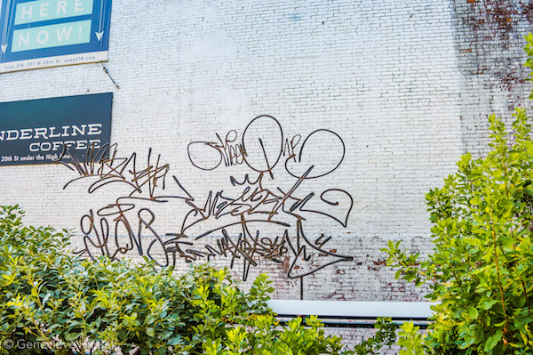 Graffiti Sculpture Art on High Line Chelsea NYC