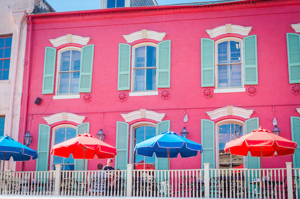 Colourful buildings in New Orleans