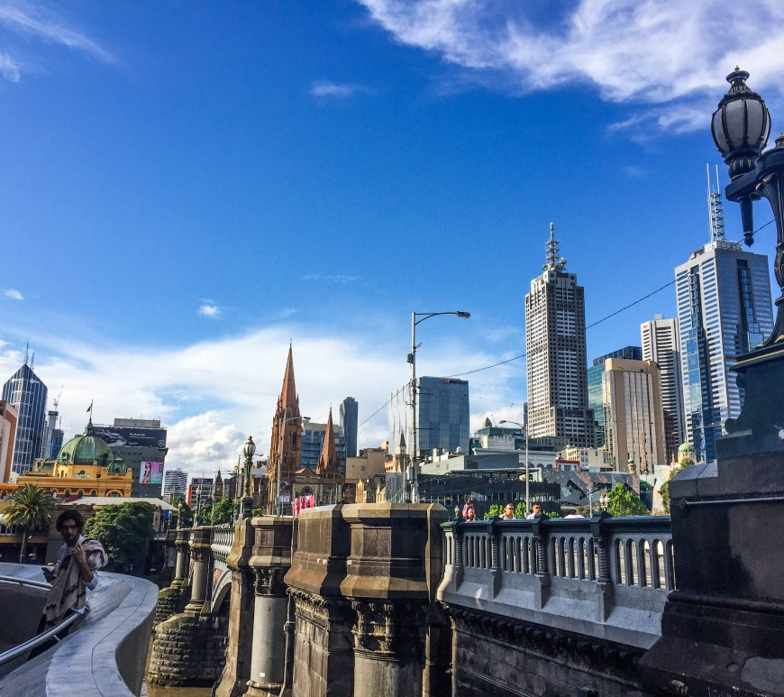 Melbourne Skyline from Hamer Hall Southbank