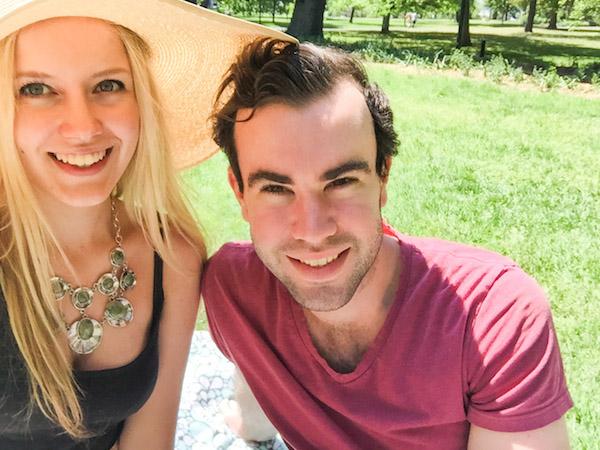 Picnic in Fitzroy Gardens Melbourne