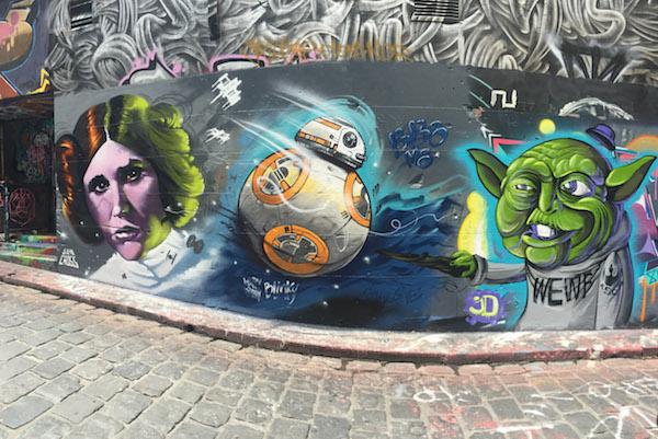 Star Wars Street Art in Hosier Lane Melbourne