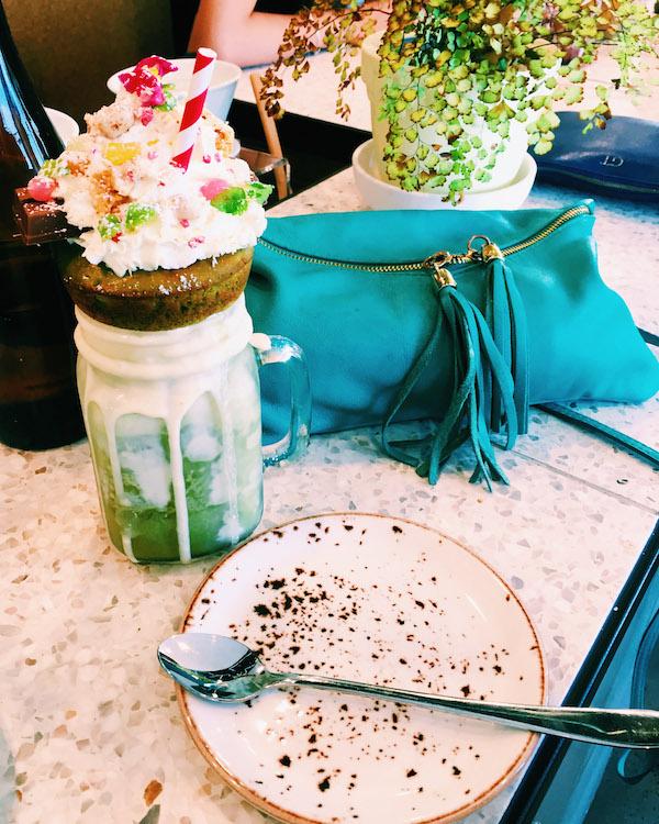 Matcha Freakshake at Cafe Lafayette Port Melbourne