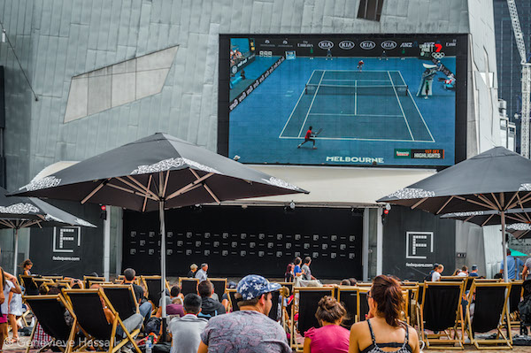 Australian Open in Fed Square Melbourne