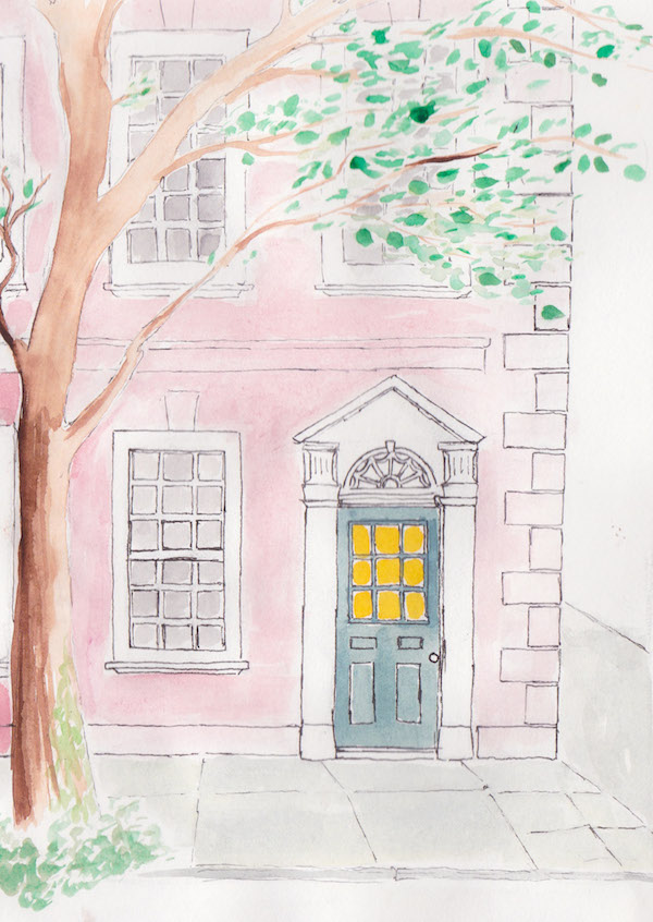 Charleston historic home illustration