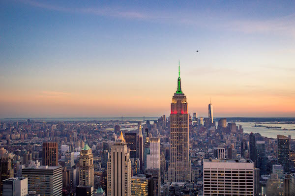Golden Hour at Top of the Rock View Midtown NYC