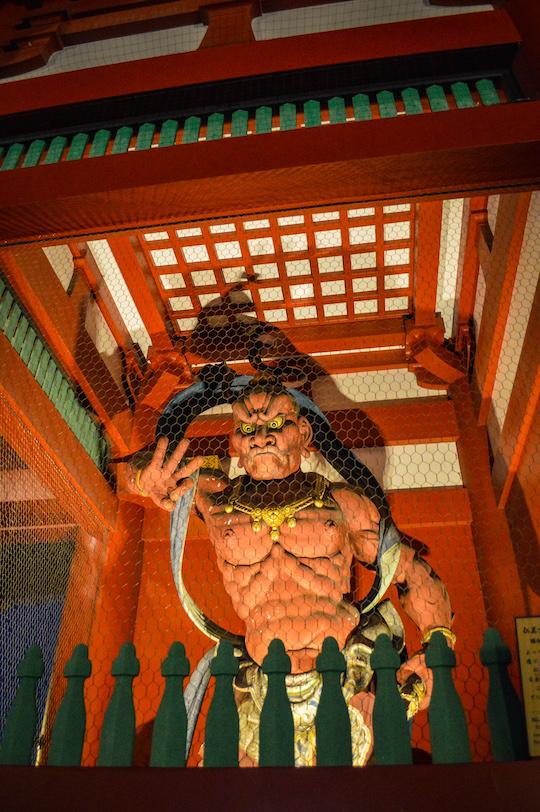 Statue at Senso Ji Temple in Asakusa, Tokyo Japan