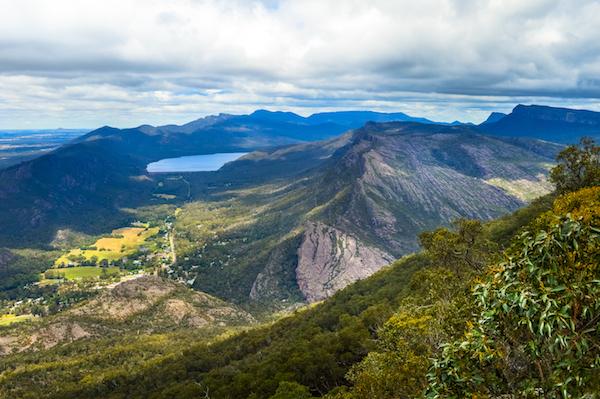 View from boroka lookout in the grampians victoria australia