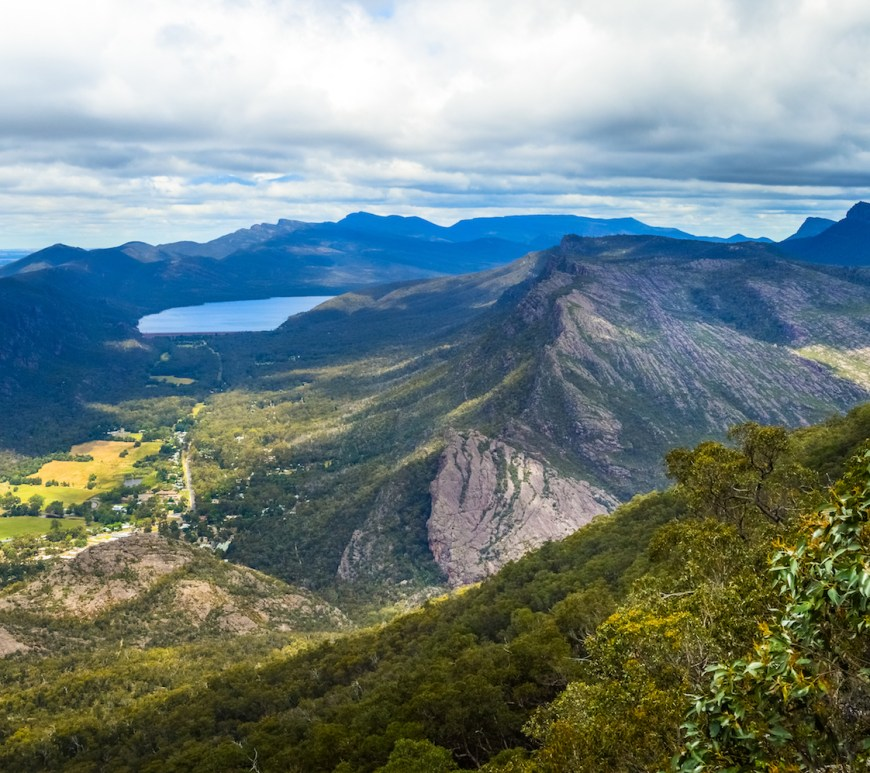 View from boroka lookout in the grampians victoria australia
