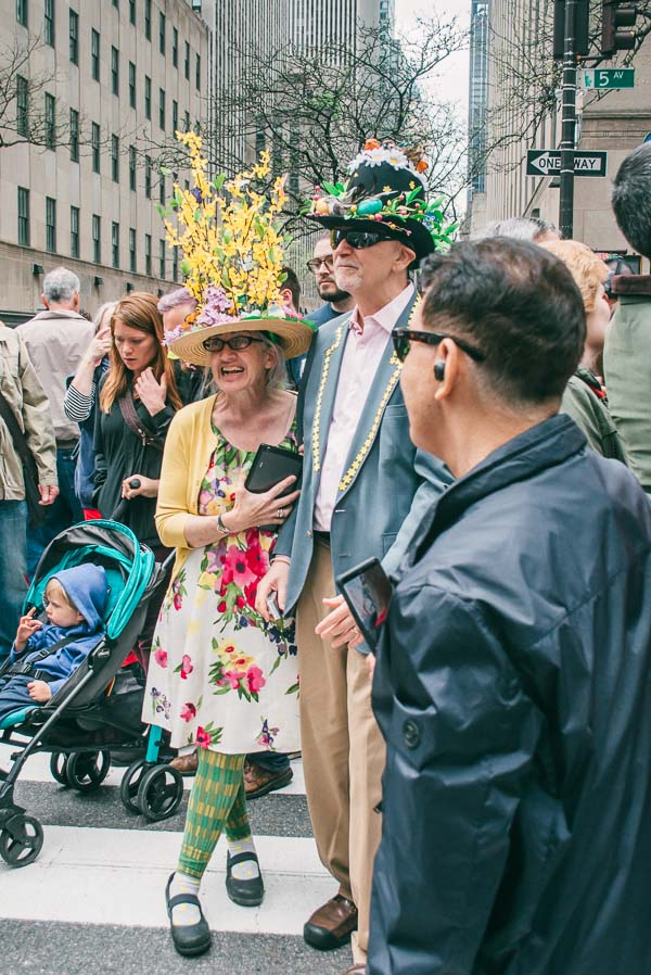 parders at the easter bonnet parade on 5th avenue in nyc