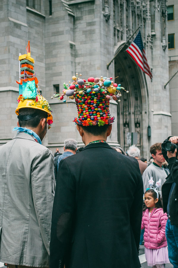 bonnets at 5th avenue easter parade nyc