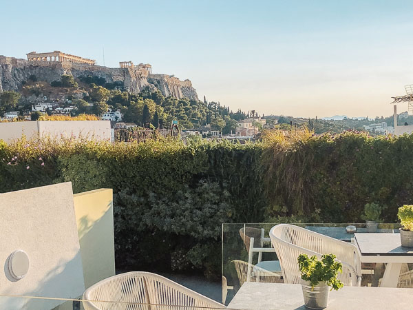 Rooftop terrace athens