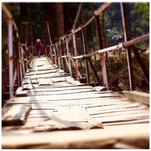 Bridge in Kasol, Manali, India