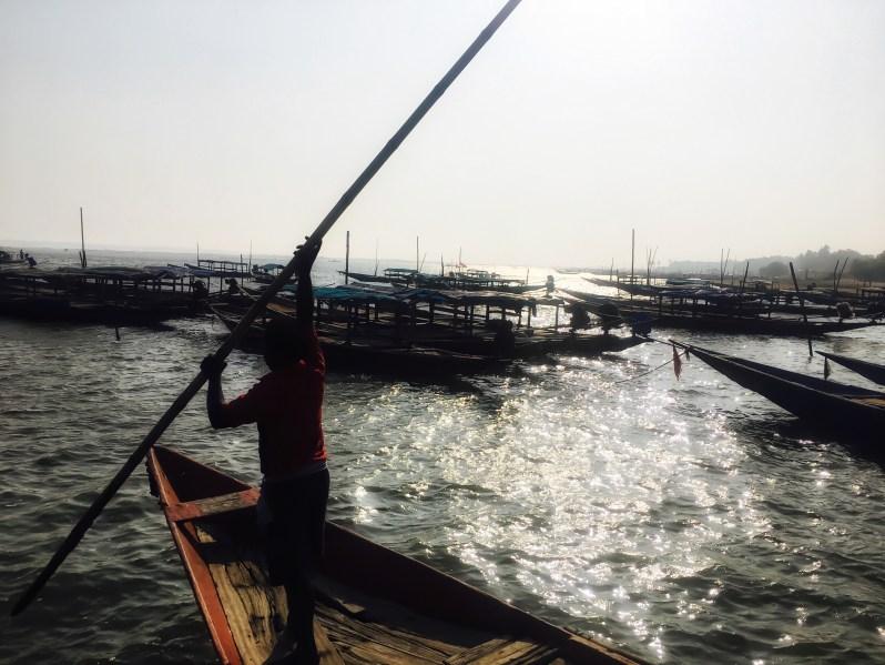 A boat owner in Chilika Lake Odisha India