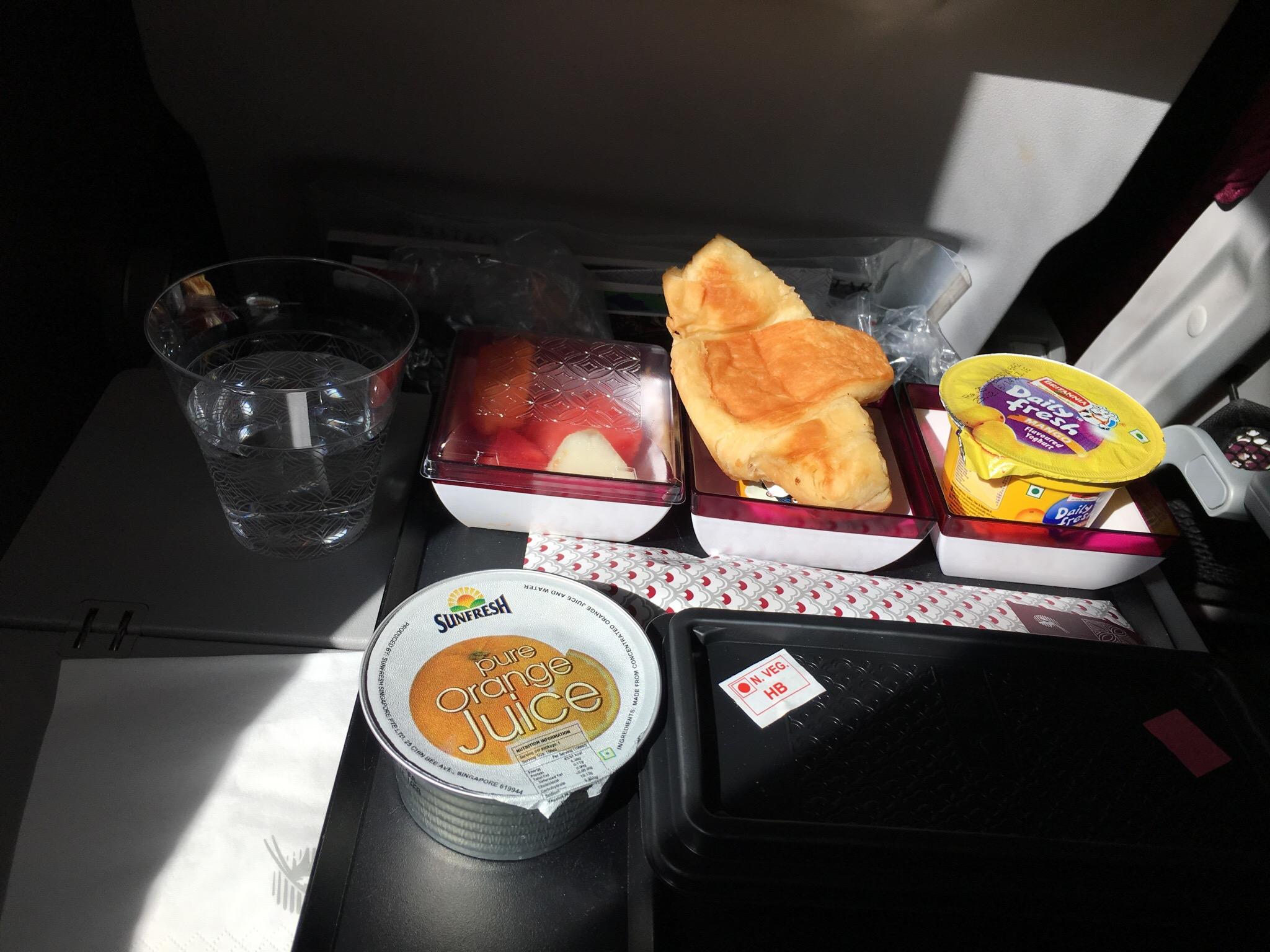Breakfast at Doha Hamid International Airport