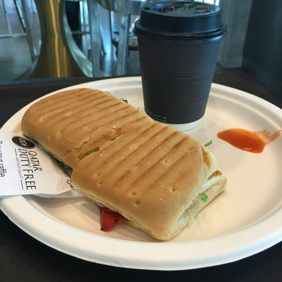 Sandwich at Doha Airport
