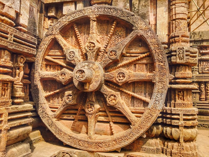 A large wheel at Sun temple Konark