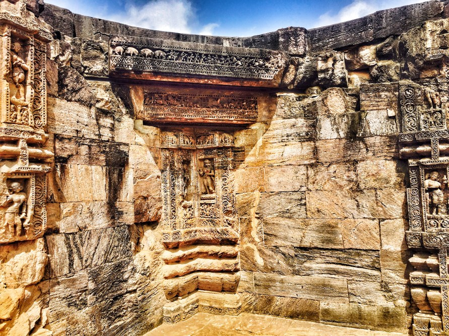 a carving of a god at Sun temple konark