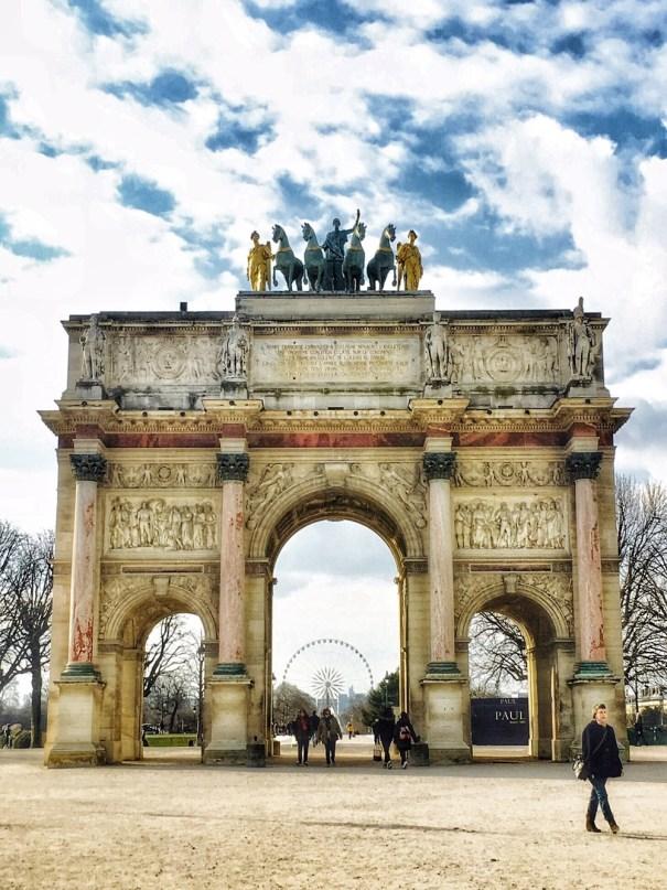 Arc De Triomphe Du Carrousel, Louvre Museum Paris