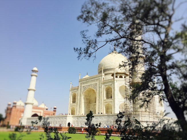 A different view of the Taj mahal from the gardens