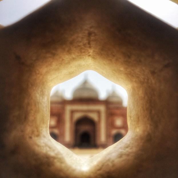 View from Taj Mahal India