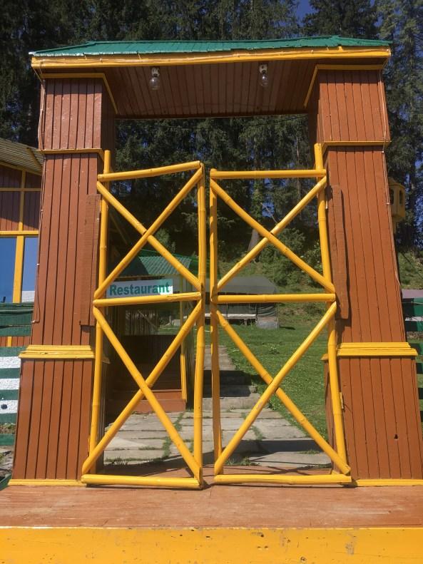Entry door of Narkanda camps, Himachal Pradesh India