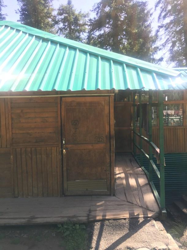 A wooden door at Narkanda camps, Himachal Pradesh India