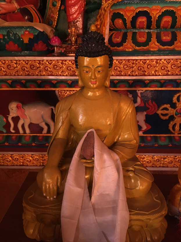 Buddha in the monestary Sangla valley Himachal Pradesh India