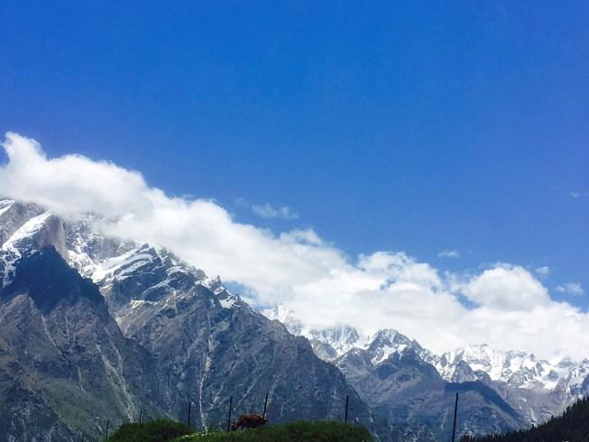 Kailash Mountains Sangla Kanda Himachal Pradesh India